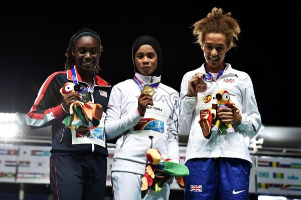 The girls' 400m podium at the IAAF World Youth Championships Cali 2015 (Getty Images)