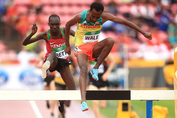 Getnet Wale and Leonard Kipkemoi Bett in the 3000m steeplechase at the IAAF World U20 Championships Tampere 2018 (Getty Images)