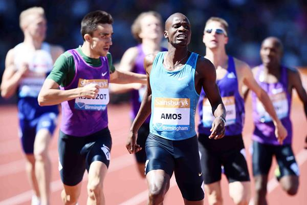 Nijel Amos wins the 800m at the 2015 IAAF Diamond League in Birmingham (Jean-Pierre Durand)