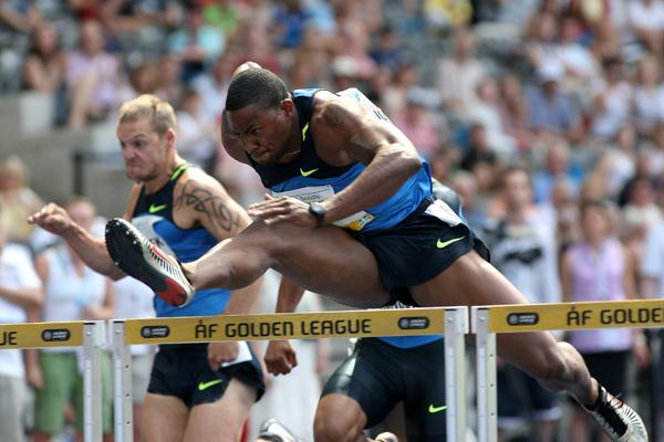 David Oliver, winner of the men's 110m hurdles (Getty Images)