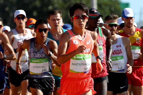 Japan's Daisuke Matsunaga in action in the 20km race walk at the Rio 2016 Olympic Games (Getty Images)