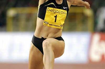 Tatyana Lebedeva triple jumping in Brussels (Getty Images)