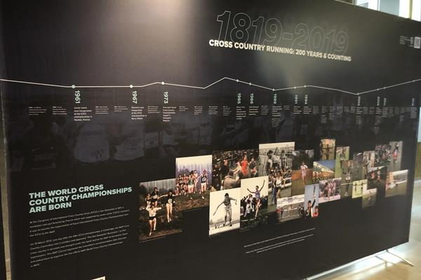 TIMELINE WXC Champs era - IAAF Heritage Cross Country Display - 1819 to 2019 - Aarhus, Denmark (IAAF)