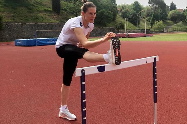 Out of lockdown, Elena Vallortigara back at her training track in Siena (Elena Vallortigara)