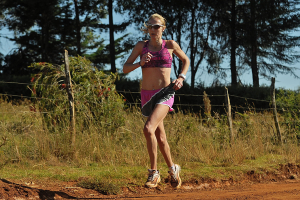 Paula Radcliffe on a training run (AFP / Getty Images)