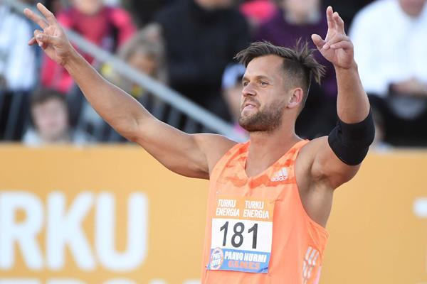 Magnus Kirt after his surprise victory in Turku (Hasse Sjogren)