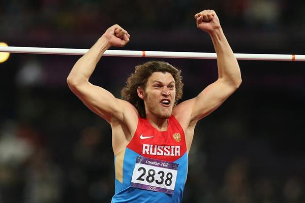 Ivan Ukhov of Russia wins the high jump at the London 2012 Olympics (Getty Images)