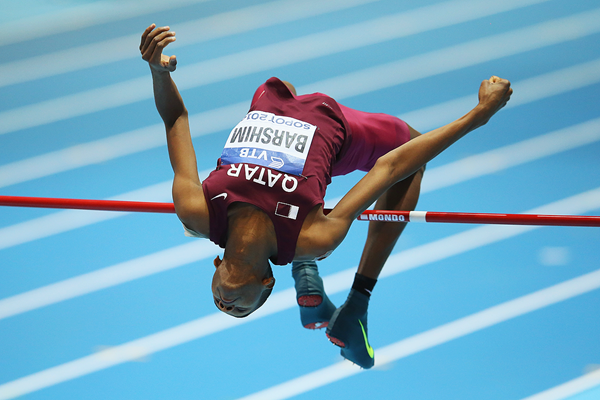 Mutaz Essa Barshim in the high jump at the IAAF World Indoor Championships (Getty Images)