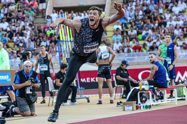 Andreas Hofmann, winner of the javelin at the IAAF Diamond League meeting in Monaco (Philippe Fitte)