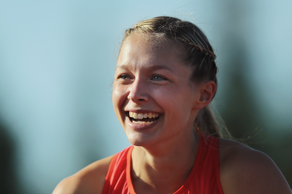 Gina Luckenkemper after winning the 200m at the European Junior Championships (Getty Images)