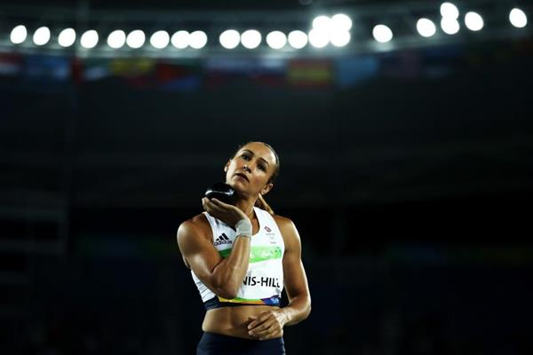 Jessica Ennis-Hill in the heptathlon shot put at the Rio 2016 Olympic Games (Getty Images)
