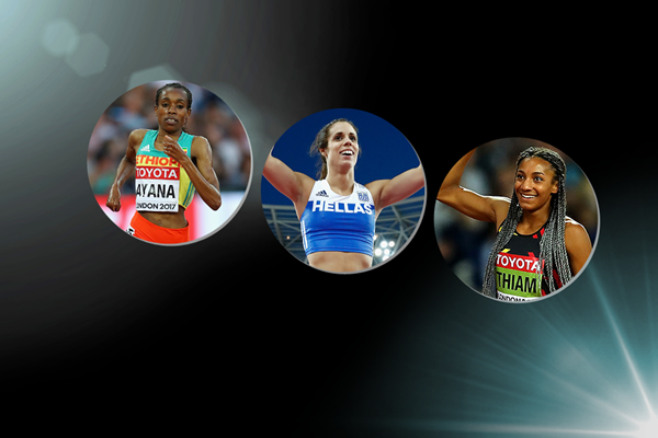 IAAF World Athlete of the Year 2017 women's finalists (Getty Images)