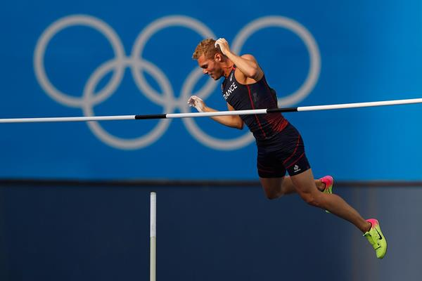 Kevin Mayer in the decathlon pole vault at the Olympic Games (Getty Images)