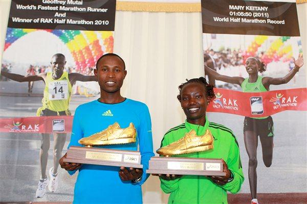Emmanuel Mutai and Mary Keitany - AIMS World Athletes of the Year for 2011 (Victah Sailer)