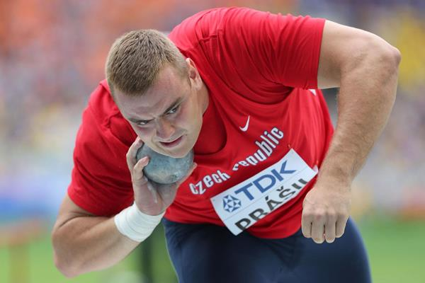 Ladislav Prasil in the mens Shot Put at the IAAF World Championships Moscow 2013 (Getty Images)