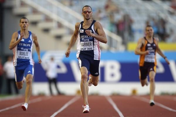 Jeremy Wariner wins the 400m for Team Americas in the IAAF / VTB Bank Continental Cup in Split (Getty Images)