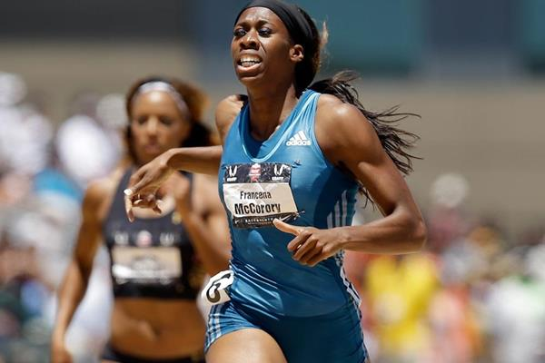 Francena McCorory on her way to winning the US 400m title in 49.48 (Getty Images)