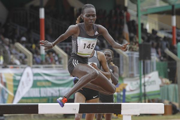 Hyvin Kiyeng at the 2016 Kenyan Olympic Trials (Stafford Ondego)