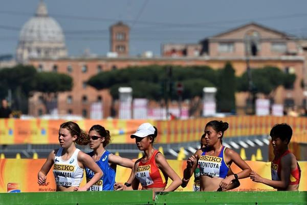 The U20 women's 10km at the IAAF World Race Walking Team Championships Rome 2016 (Getty Images)