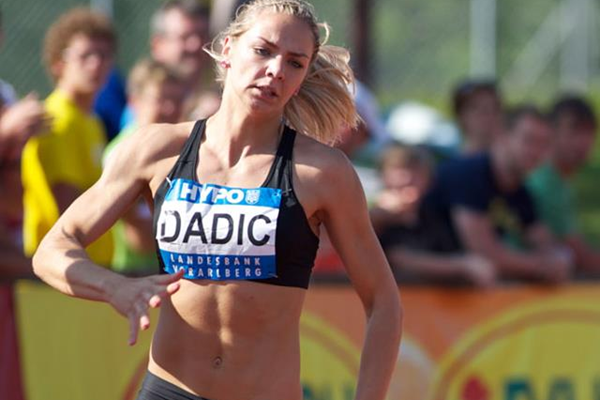 Austrian heptathlete Ivona Dadic in action at the Hypo-Meeting in Gotzis (Gunter Kram)