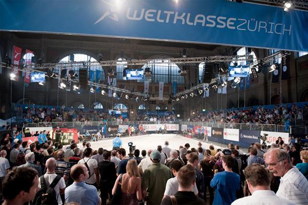 The Shot Put arena at Zurich Main Station (Weltklasse Zurich)