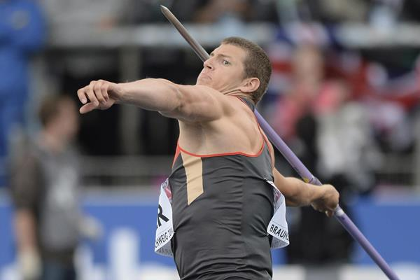Andreas Hofman, winner of the javelin at the European Team Championships (Getty Images)