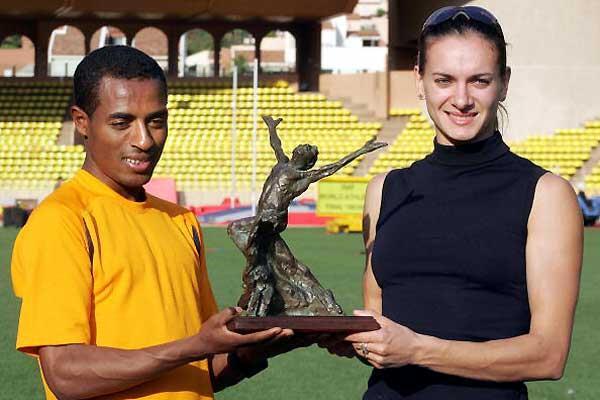 World Athletes of the Year - Bekele and Isinbayeva (AFP / Getty Images)