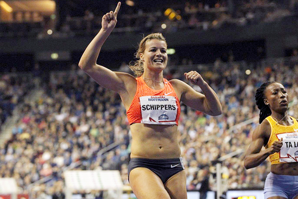 Dafne Schippers at the ISTAF Indoor 2016 meeting in Berlin  (Jean-Pierre Durand)