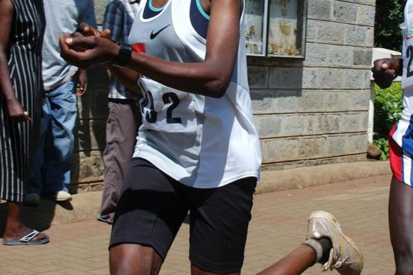 Rose Jebet en route to her Great Lakes Marathon victory in Kisumu (Titus Munala)