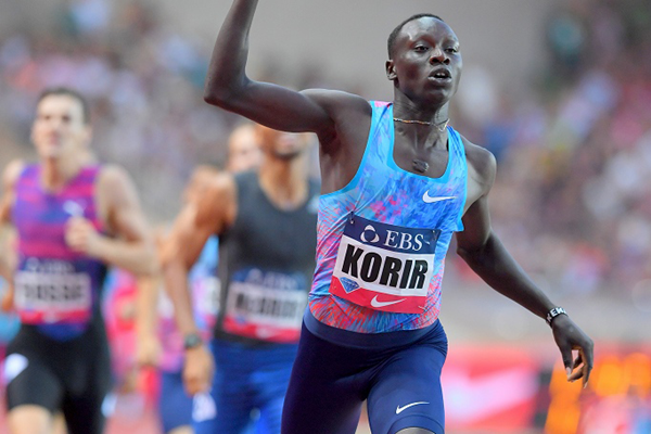 Emmanuel Korir wins the 800m at the IAAF Diamond League meeting in Monaco (Jiro Mochizuki)
