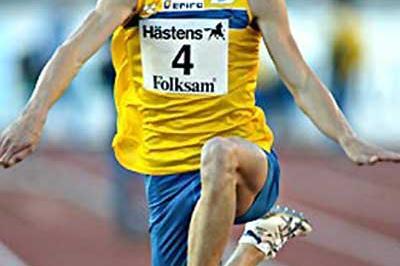 Olsson flies through the air to 17.51m meeting record at the Finnkampen (Juha Sorri)