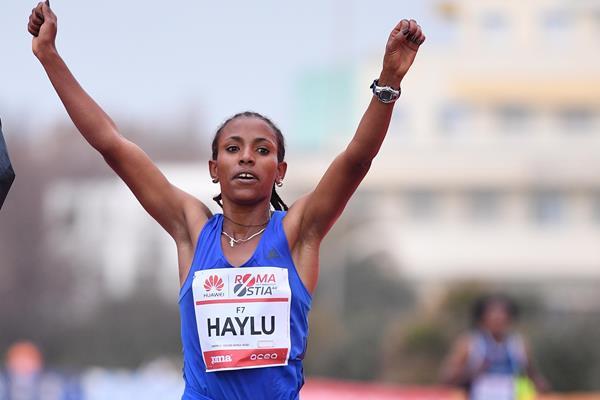 Haftamenesh Haylu wins the Roma-Ostia half marathon (organisers)