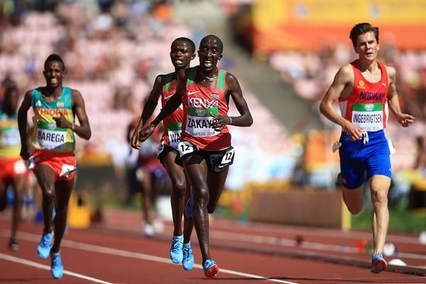 Edward Zakayo wins the 5000m at the IAAF World U20 Championships Tampere 2018 (Getty Images)