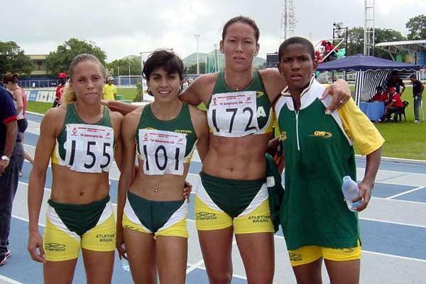 Brazil's Area Record winning 4x400m relay team (Eduardo Biscayart)