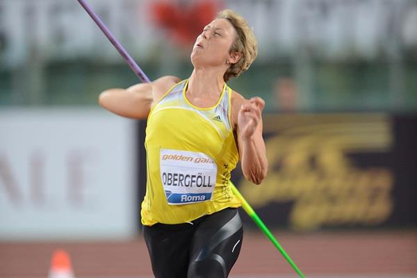 Christina Obergfoll at the 2013 IAAF Diamond League in Rome (Giancarlo Colombo)