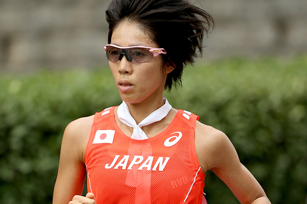 Risa Shigetomo in the marathon at the IAAF World Championships (Getty Images)