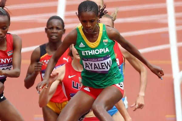 Hiwot Ayalew in the 3000m Steeplechase at the 2012 Olympics (Getty Images)