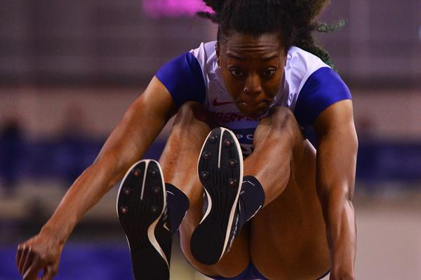 Lorraine Ugen at the 2016 Glasgow Indoor Grand Prix (Getty Images)