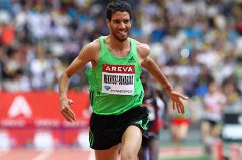 Mahiedine Mekhissi-Benabbad wins the steeplechase at the Diamond League meeting in Paris (Errol Anderson)