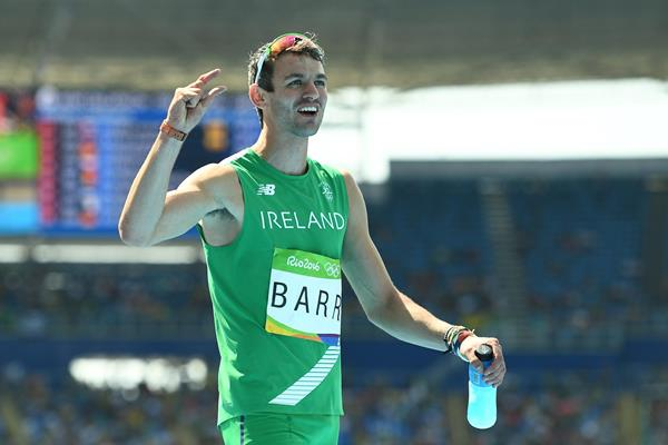 So close: Thomas Barr after finishing fourth at the 2016 Olympic in Rio de Janeiro (Getty Images)