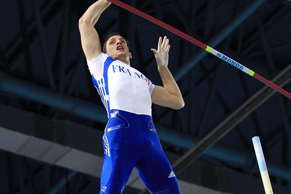 Renaud Lavillenie wins gold in the pole vault at the World Indoor Championships in Istanbul (Getty Images)