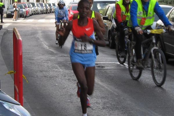 Margaret Agai en route to her Madrid victory (Mareas)