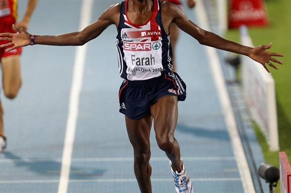 Mo Farah adds the European 5000m crown to his 10,000m title in Barcelona (Getty Images)