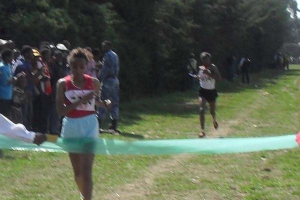 Meselech Melkamu takes a comfortable victory at the Ethiopian World XC trials (Bizuayew Wagaw)