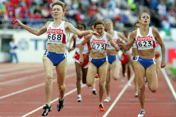 Tatyana Tomashova of Russia wins the women's 1500m final (Getty Images)