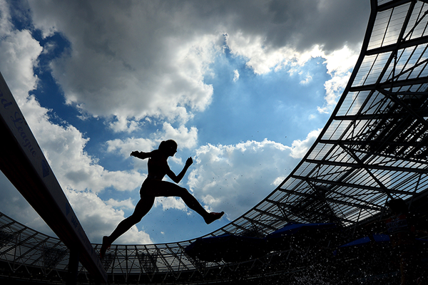 Action from the 3000m steeplechase at the London Olympic Stadium (Getty Images)