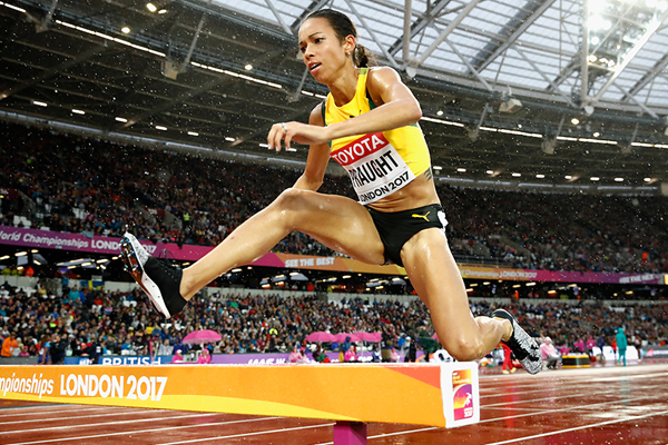 Jamaican steeplechaser Aisha Praught Leer in action at the IAAF World Championships London 2017 (Getty Images)
