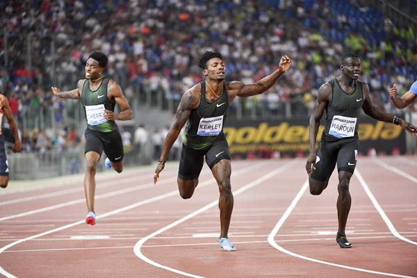 Fred Kerley nabs his first career Diamond League victory in Rome (Hasse Sjogren)
