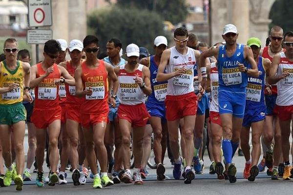 The start of the 50km  at the IAAF World Race Walking Team Championships Rome 2016 (Getty Images)