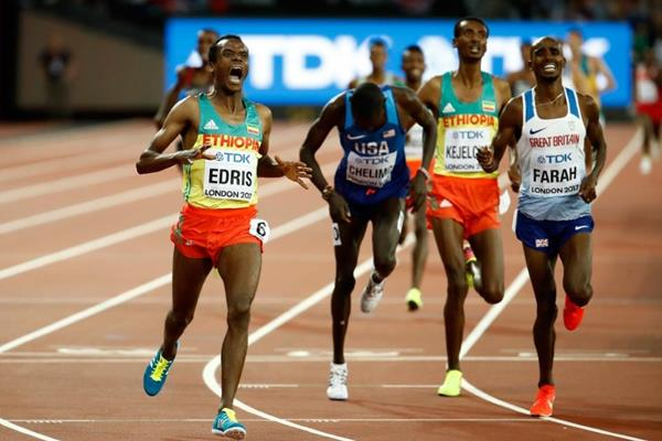 Muktar Edris wins the 5000m at the IAAF World Championships London 2017 (Getty Images)